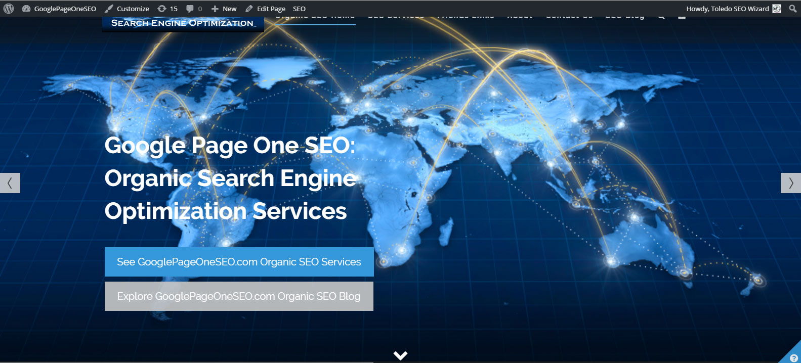 Toledo Wordpress Website Re-Design For My Own Toledo SEO Wizard Service