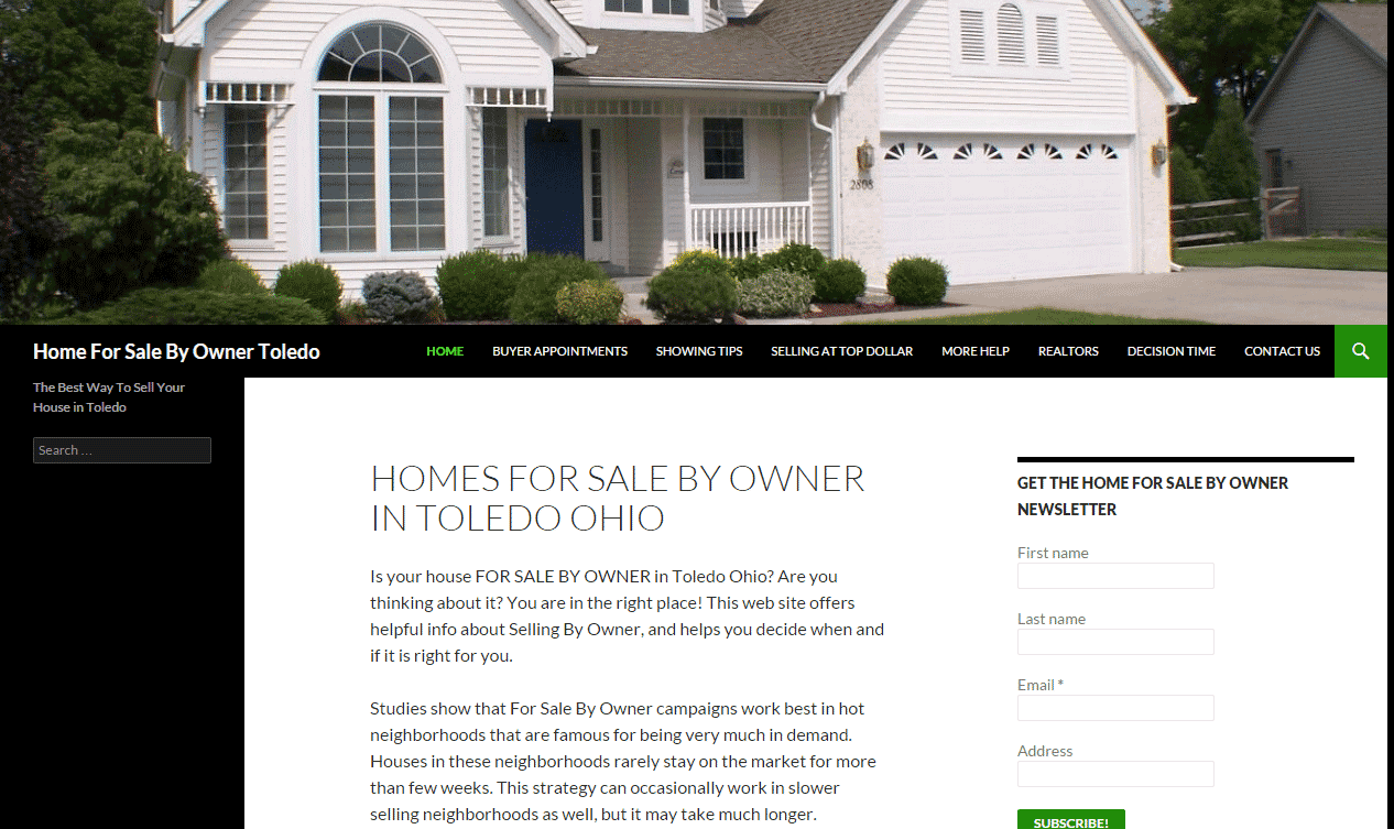 Toledo WordPress Website Design For Toledo Real Estate Website