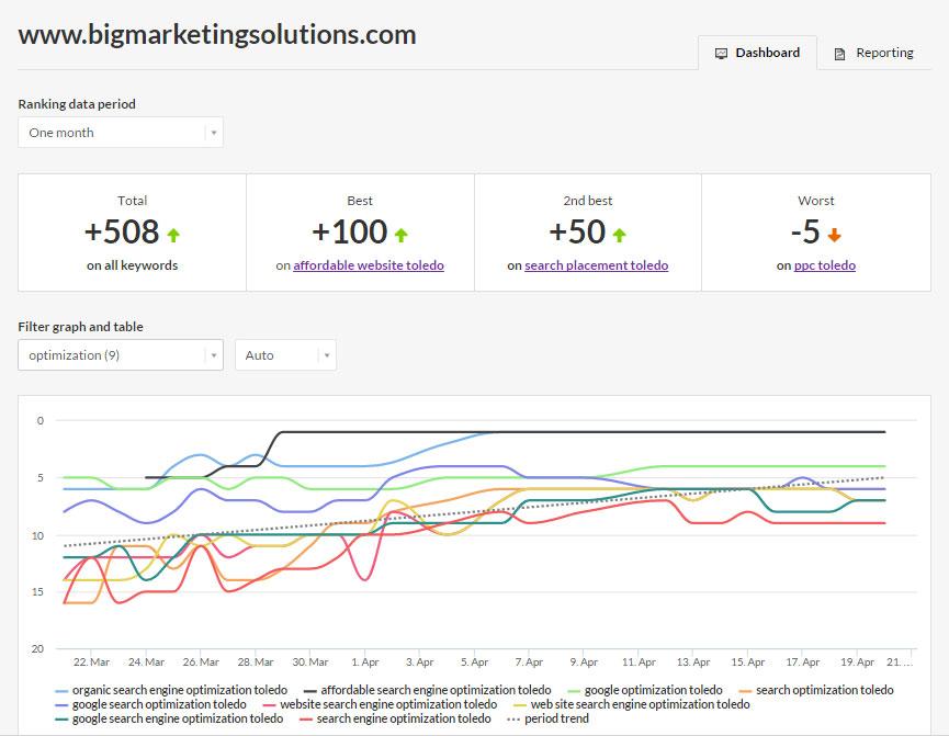 Google Organic SEO Search Rank ~ Page One Accomplishments