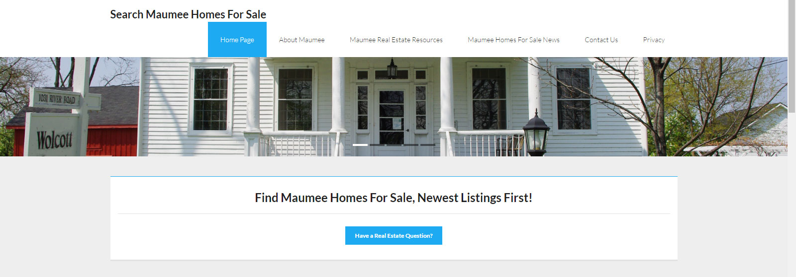 New Real Estate Website Launched: Search Homes For Sale In Maumee, OH