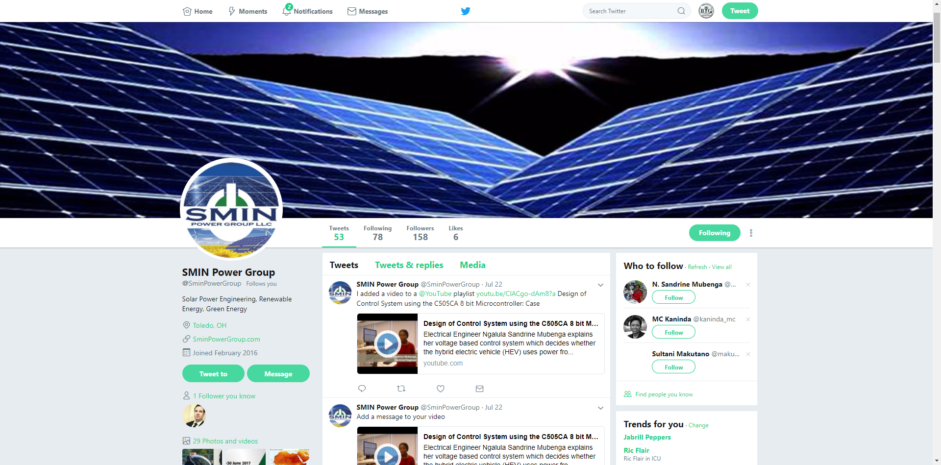 Twitter Account Design and Management