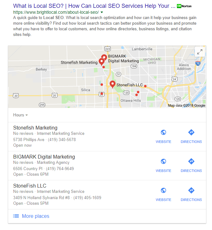 local seo toledo rank image